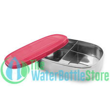 New Wave Enviro Stainless Steel Bento Box Lunch Food Container Adults Pink Lid