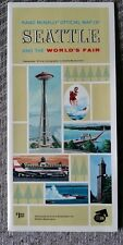 UNUSED 1962 Seattle Worlds Fair Map (Rand McNally Official Fair Map)