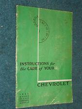 1935 CHEVROLET / MASTER PASSENGER CAR / OWNER'S MANUAL /  ORIGINAL BOOK