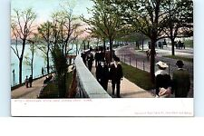 UDB Postcard Riverside Park and Drive New York City NYC People Horse Buggys