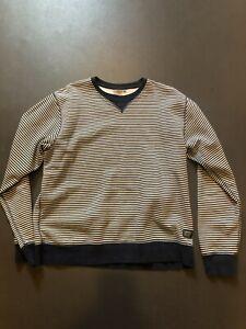 "Vintage Style Carhartt Striped crew neck Sweatshirt XL 48"""