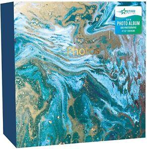"Large Photo Album Ringbinder Marble Memories Holds 500 6""x4"" Photos"