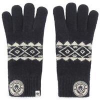 Manchester City F.C. Knitted Gloves Adult Fairisle Sport  Football Gift BLACK