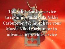1983 85 YOUR MAZDA NIKKI CARBURETOR REBUILT RX7 YEAR WARRANTY NICE