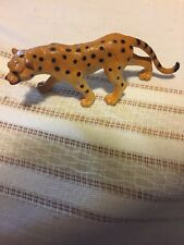 Leopard Prowl Figurine Wild Cat Spots Yellow Plastic