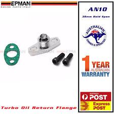 EPMAN 10AN Turbo oil drain return adapter flange kit Garrett GT15 - GT35 38 mm