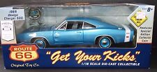 Route 66 1969 Dodge Charger 500 1:18 Scale Die Cast Hemi Model Muscle Car Blue