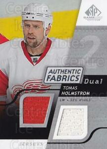 2008-09 Sp Game Used Dual Authentic Fabrics #AFHO Tomas Holmstrom