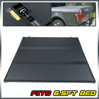 FOR 09-14 FORD F150 6.5FT TRUCK SHORT BED FRP HARD SOLID TRI-FOLD TONNEAU COVER