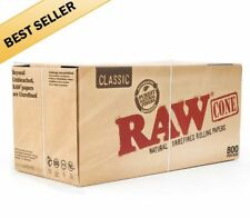 50 Pack - RAW Classic Cones King Size Authentic Pre-Rolled Cones w/ Filter