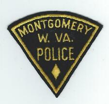 VINTAGE MONTGOMERY, WEST VIRGINIA POLICE (EMBROIDERED ON WOOL/FELT) patch