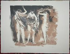 "JACK COUGHLIN Color Etching ""3 Figures"" ARTISTS PROOF SIGNED nd"
