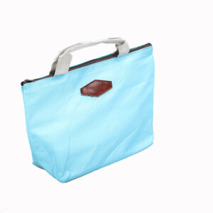 Portable Thermal Insulated Lunch Box Tote Cooler Bag Bento Picnic Storage Pou HB
