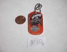"Harley Davidson Aluminum Dog Tag 2""x1"" Key Chain Live to Ride Dragon on Red #10B"