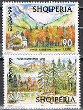 1999 Albanië 2690-2691 Europa CEPT Nationale parken