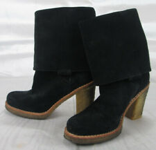 UGG Australia Josie Black Convertible Suede leather Boots shoes size 6 3214 VGUC
