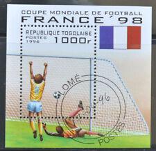 Togo 1996 Michel B392 - WK Voetbal France 98 -   gebruikt (0750-1)