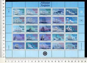 36450) Marshall Islands 1996 MNH Ships 25v M/S