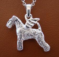 Sterling Silver Lakeland Terrier Angel Pendant