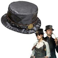 Federn Halloween Karneval Hut Schwarz mit Totenkopf und Knochen