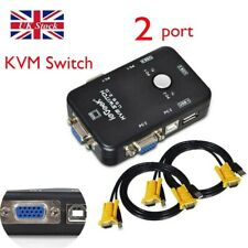 More details for iegeek 2 port usb 2.0 vga kvm switch box adapter for pc monitor keyboard mouse