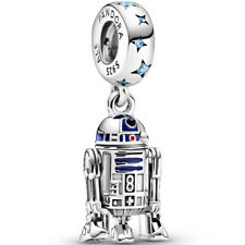 PANDORA Disney Star Wars Charm Dangle Element 799248 C01 R2-D2 Silber Beads