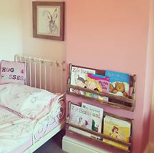 rustic wooden children's bookcase book rack bedroom storage