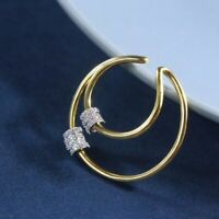 apmMonaco COLLECTION PIERCING Double Hoops with Three Sliding Rings Mono Earring