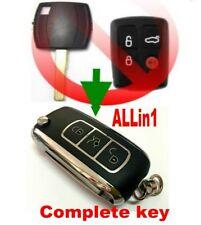 Chrome style flip key remote for Ford 06-10 FALCON BF FG XR6 XR8 clicker fob 2T