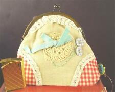 Taj Wood Scherer Kulturbeutel beige blaue Schleife Kosmetikbeutel KJ1812-242