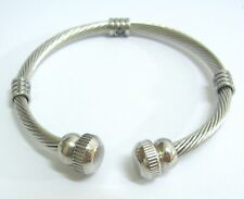 Stainless Steel Magnetic Bracelet Bangle Wrist Cuff Twisted Cable Band AXIS SV