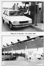 Carte LAVAL Péage de la Gravelle 24 Octobre 1980 Ouverture du dernier tronçon