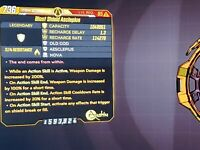 PS4/PS5-Xbox/X/S-PC Borderlands 3 Level 65 Modded Asclepius Shield (Guardian)