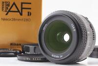 【 MINT w/ HOOD 】Nikon AF Nikkor 28mm f2.8 D Wide Angle Lens in BOX Japan #095