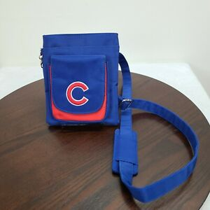 Chicago Cubs Cross Body Purse Blue Zip Pockets Removable Strap