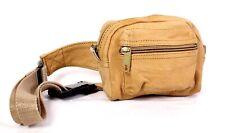 1B Bauchtasche Gürteltasche Doggy Bag Leder braun 75 - 95 cm Waist Bag Vintage