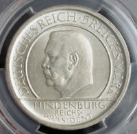 "1929, Germany(Weimar). Silver 5 Mark ""Constitution Anniversary"" Coin. PCGS MS62!"