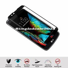Full Cover Curved Tempered Glass Screen Protector For LG K10 / Premier LTE-BLACK