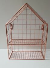 COPPER ROSE GOLD HOUSE WIRE STORAGE BASKET WALL SHELF BEDROOM BATHROOM KITCHEN