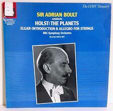 Holst: The Planets & Elgar: Introduction & Allegro/Boult 1986 UK HMV Treasury NM