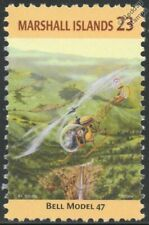 US Army BELL Model 47 Helicopter Aircraft Stamp (Marshall Islands)