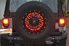 "Kip Rides 1986-2017 Jeep YJ TJ JK Wrangler 15"" Spare Tire Wheel LED Brake light"