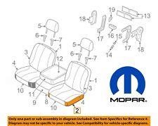 For Dodge Ram 1500 3500 Front Driver Left Side Seat Bottom Cushion OEM Mopar NEW