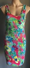 "With Tags SASS ""fluro Floral Print"" Stretch Bodycon Dress Size 14"