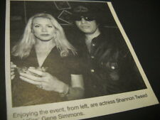 KISS Gene Simmons and Shannon Tweed at event 1987 music biz promo pic with text