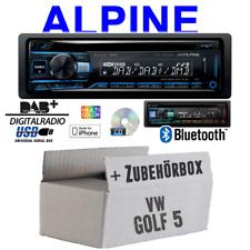 Autoradio Radio Alpine für VW Golf 5 V inkl Lenkrad CanBus   DAB+   Einbauset
