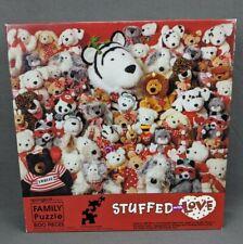 Springbok 500 pc Jigsaw Puzzle Hallmark Valentines Plush Stuffed With Love