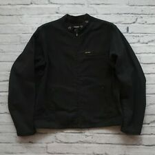 Vintage Polo Jeans Co Ralph Lauren Cafe Racer Jacket Cotton Black L Motorcycle