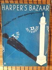 1934 HARPER'S BAZAAR Magazine October Erte Auto Ads Beautiful