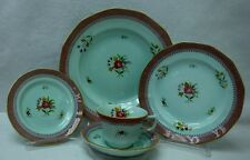 ADAMS Wedgwood china LOWESTOFT older stamp 5-piece Place Setting no crazing
